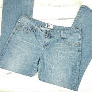 SO Juniors Size 17 Cotton Blend Blue Jeans